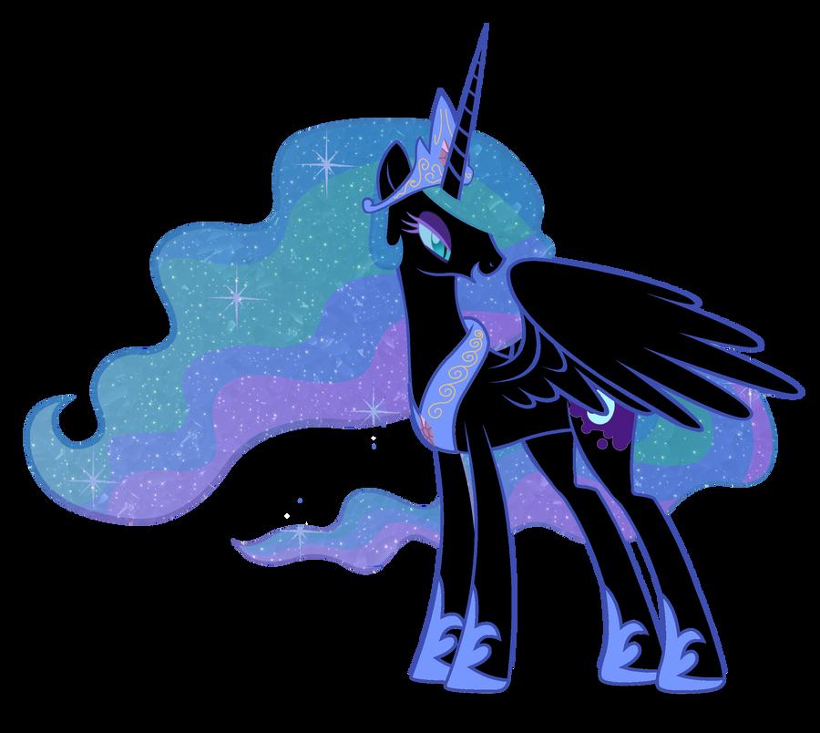 Nightmare Moon and Celestia by speedingturtle on DeviantArt