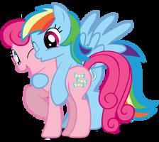 LyraBonBon into PinkieDash by speedingturtle