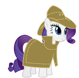 Rarity as Sherlock Holmes by speedingturtle