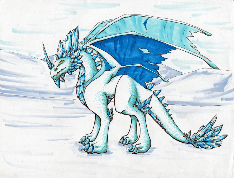 ice dragon by takenflyght on deviantart