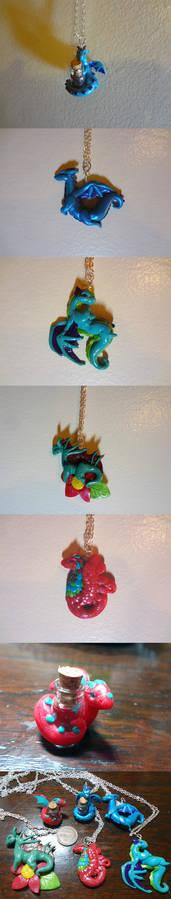 Mini Dragon Necklaces