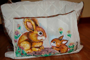 Paint rabbit bag by Animaliemagia