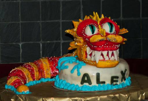 Chinese dragon cake