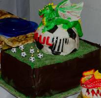 Football dragon cake