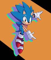 Retro Feel Sonic Drawing