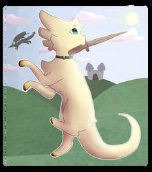 to slay a dragon-au