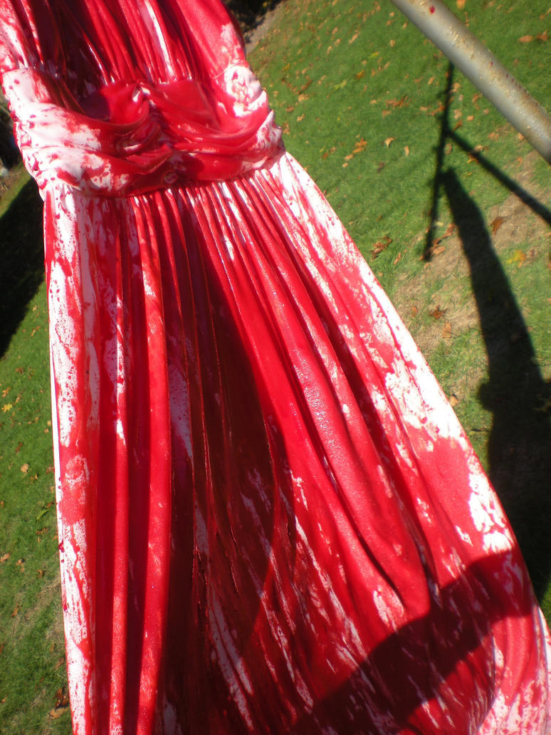 Carrie White Bloody Prom Dress 2 by BattousaiBlade7 on DeviantArt