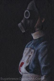 Gasmask Zombie by SugarBreeze