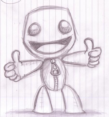 Sackboy Doodle by Splapp-me-do