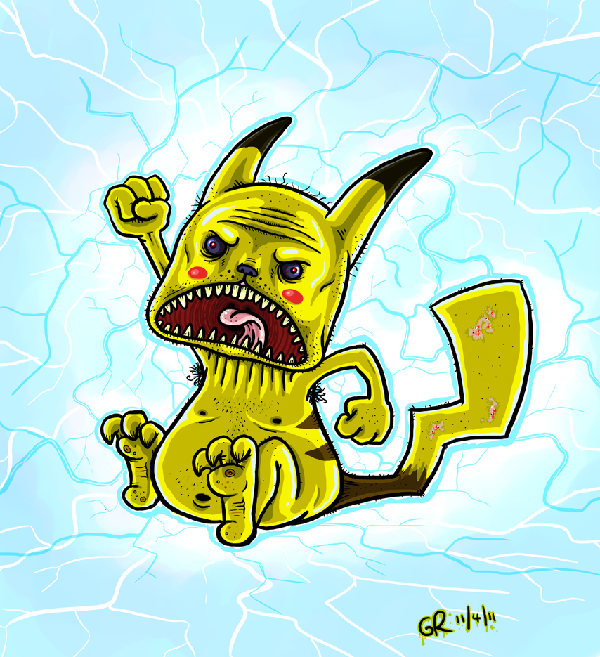 Wild PIKACHU appeared by Splapp-me-do