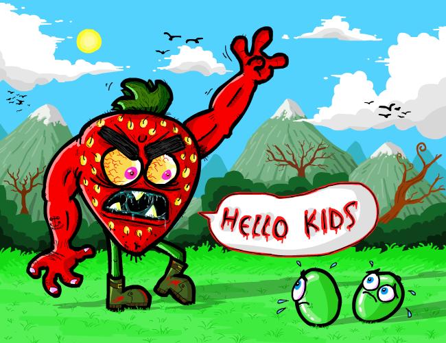 Violence the Strawberry by Splapp-me-do