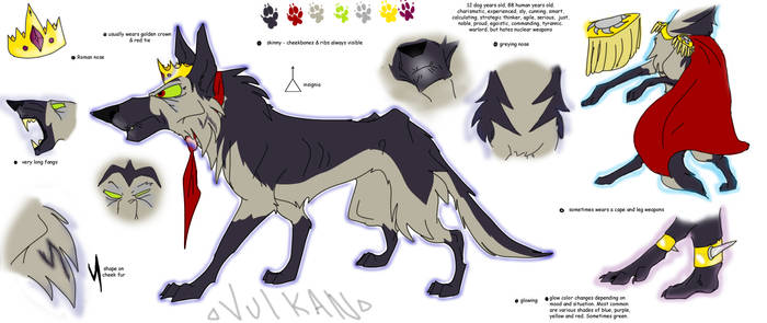 Vulkan the character (reference sheet)