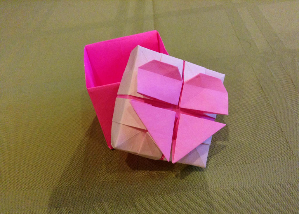 origami heart box by kazikasaurus on deviantart