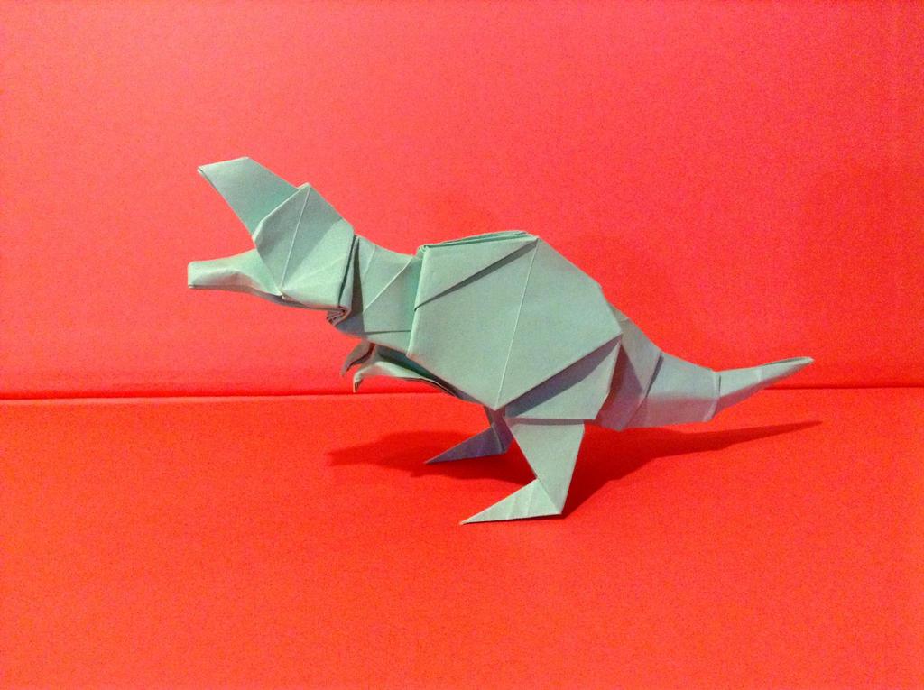 origami tyrannosaurus rex 2 by kazikasaurus on deviantart