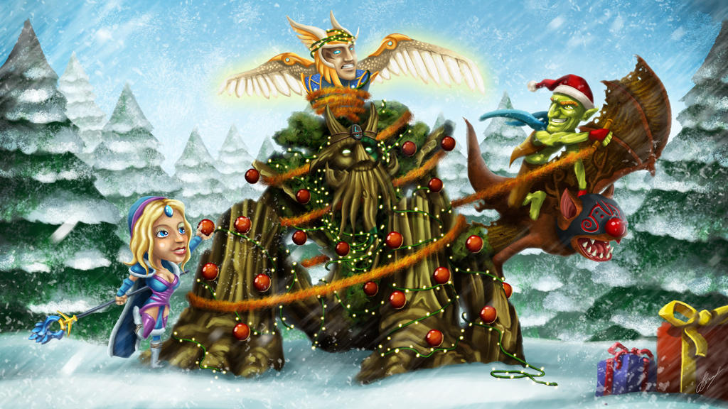 Merry frostivus by jazzastudios on deviantart for Draw with jazza mural