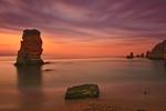 Sunrise Behind the Rock