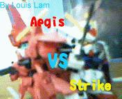 Gundam Strike vs Aegis by LouisLam