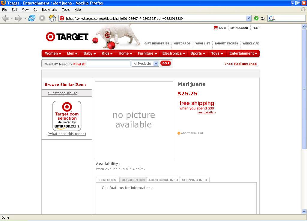 Target sells Pot