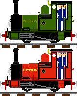 Rheneas and Smudger with swapped paint-jobs by Champ2stay