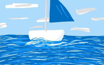 Blue Sailboat