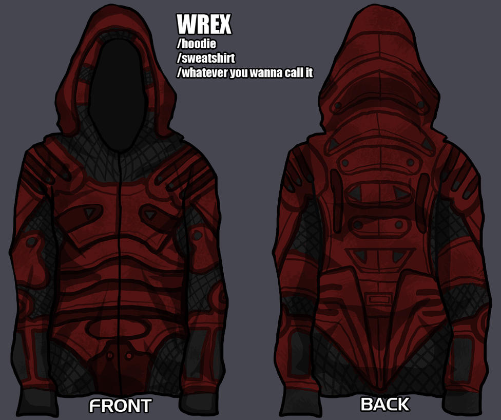 wrex hoodie - give me your input! by lupodirosso