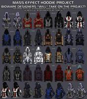 mass effect hoodies- Tali and Garrus