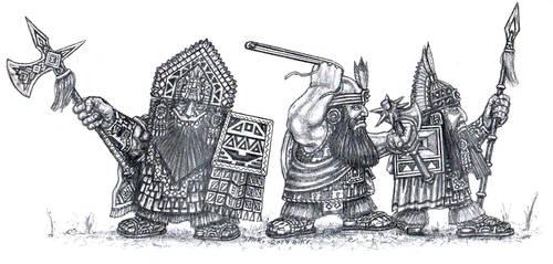 Dwarves of the Wrathful Mountains by KarakNornClansman