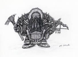 Polar Dwarf Warrior by KarakNornClansman