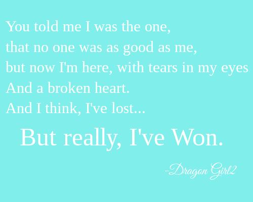 Heartbroken, But Won Freedom by DragonWolfGirl2