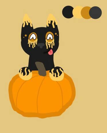 Pumpkin loves pumpkins!! by DragonWolfGirl2