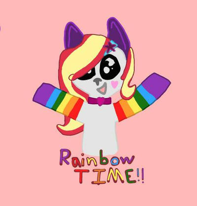 Rainbow Time!! by DragonWolfGirl2