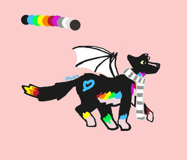 Rainbow Heart by DragonWolfGirl2