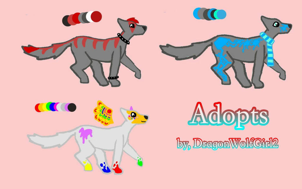 Wolf Adoptives by DragonWolfGirl2
