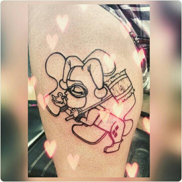 Harley Quinn Tattoo Wip By Ladyknight17 On Deviantart
