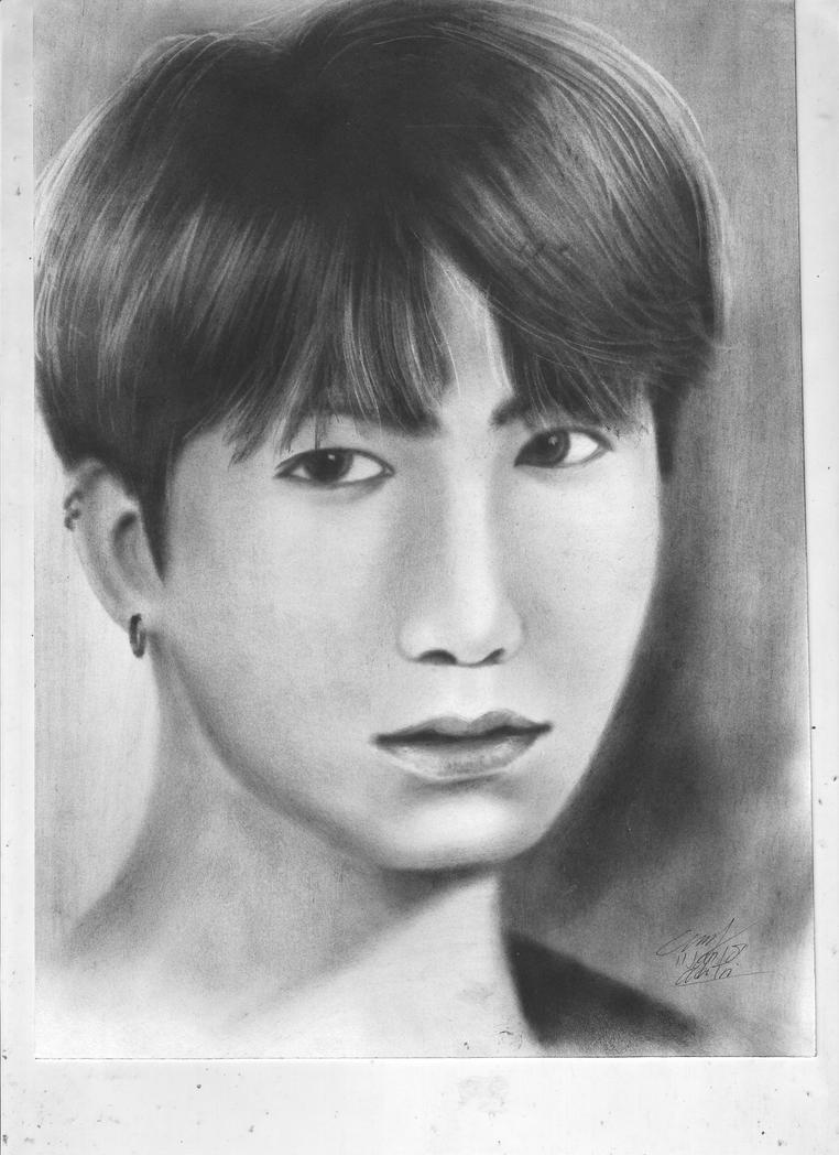 Drawing Jungkook BTS by aditrityo