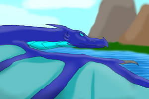 Icefire flying  by GreenWingSpino32