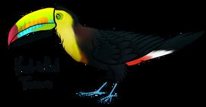 Keel Billed Toucan (LOTGW style)