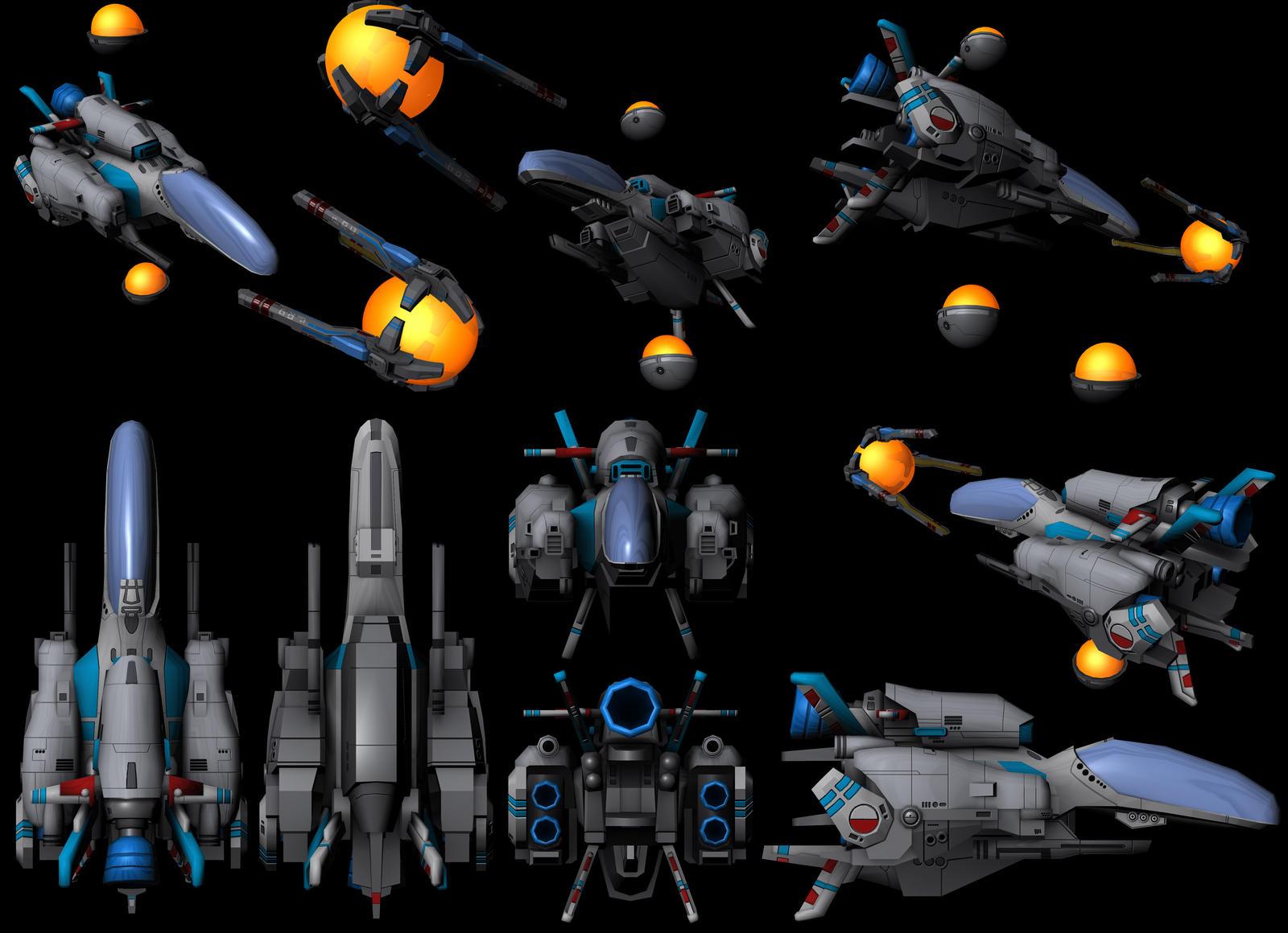 R-TYPE: R-9 Arrowhead renders by Pixel511