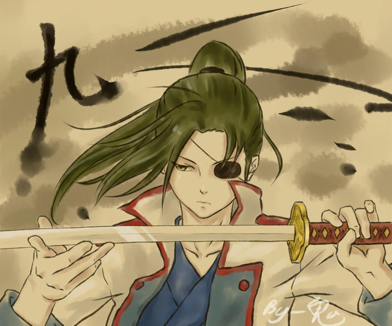 kyuubei inkstyle by Gin-Uzumaki