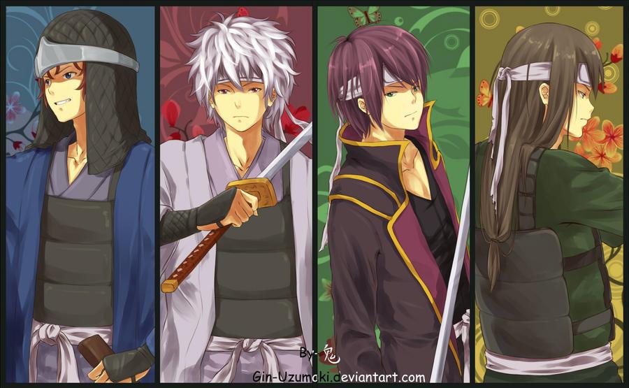 Gintama-The Legendary Four by Gin-Uzumaki