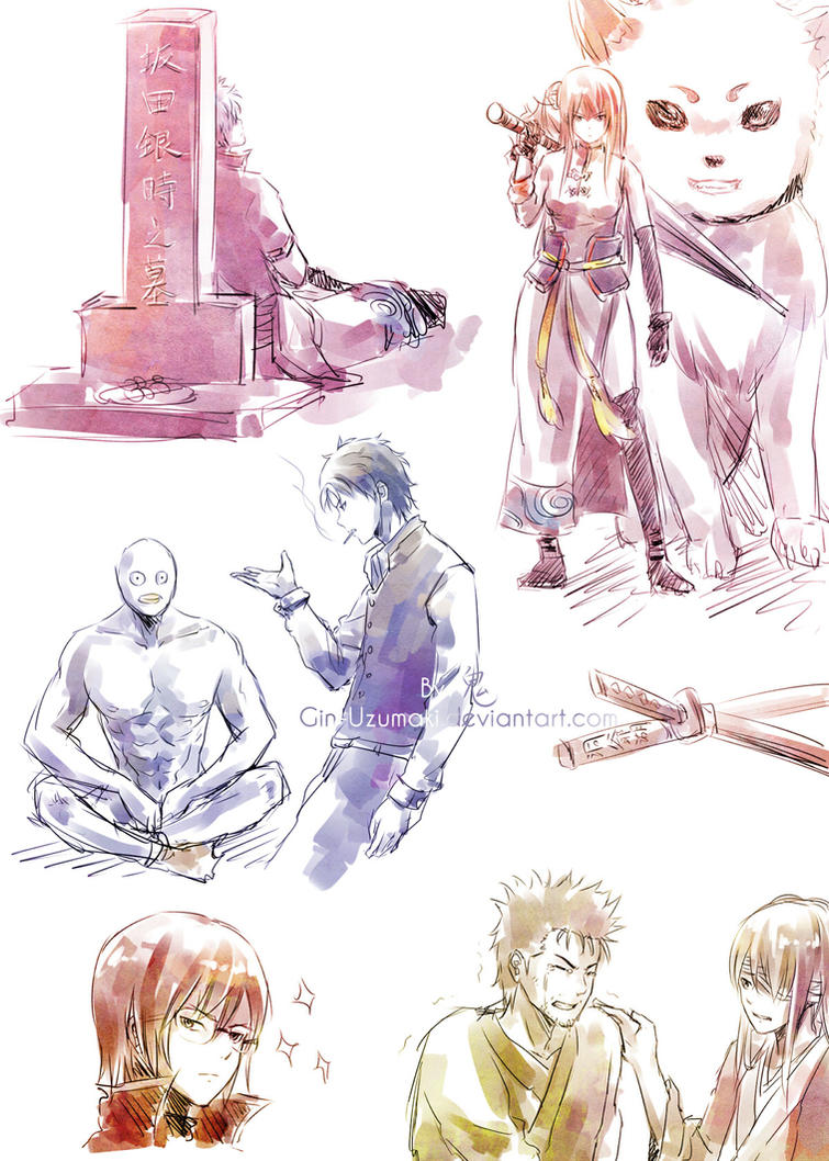 GINTAMA Movie 2 spoiler doodles 1... by Gin-Uzumaki