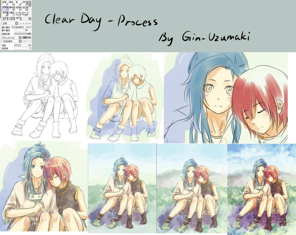 process- clear day by Gin-Uzumaki