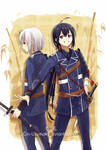 Toukenranbu- Kurochan and Shirochan