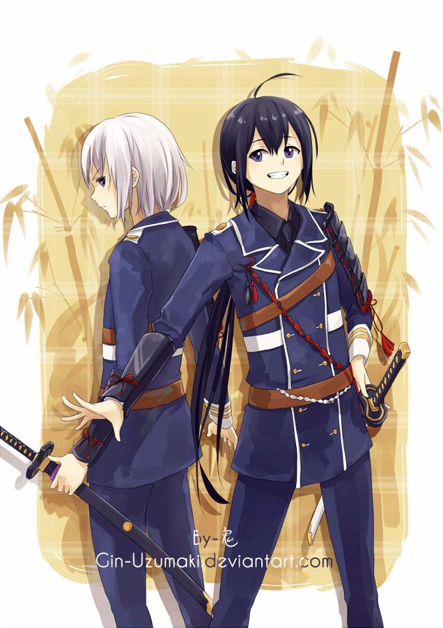 Toukenranbu- Kurochan and Shirochan by Gin-Uzumaki