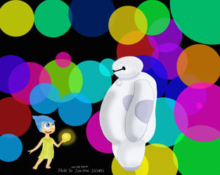Joy Meets Baymax by Ventuspowerbelive