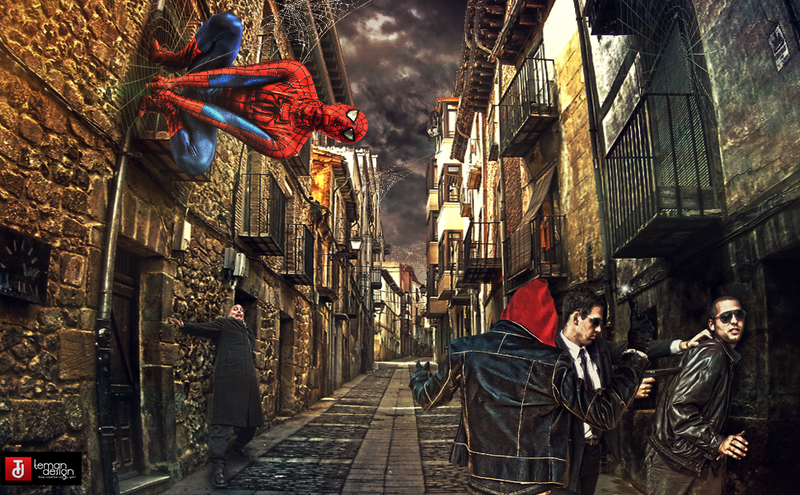 Meets Spider-Man by teMan