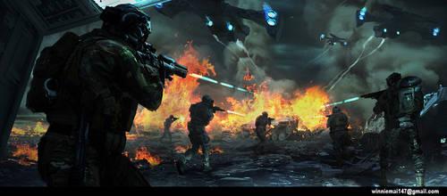 War by kromatik-art