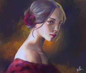 Portrait sketch by kromatik-art