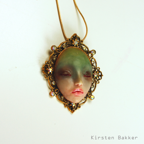 Gold plated necklace by kirstenbakker