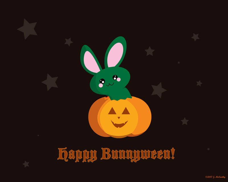 Happy Bunnyween by creampuf